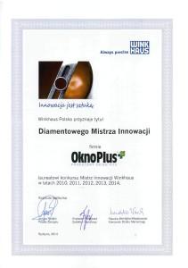 Diamentowy Mistrz Innowacji - tytuł otrzymywany 5 lat z rzędu