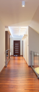 Grand design - long corridor in a contemporary interior