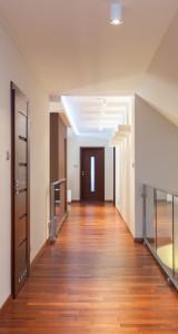 Grand design - long corridor in a contemporary interior
